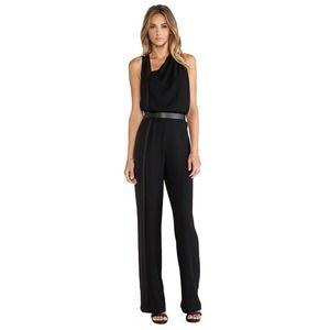 Halston Heritage Sleeveless Asymmetrical Jumpsuit